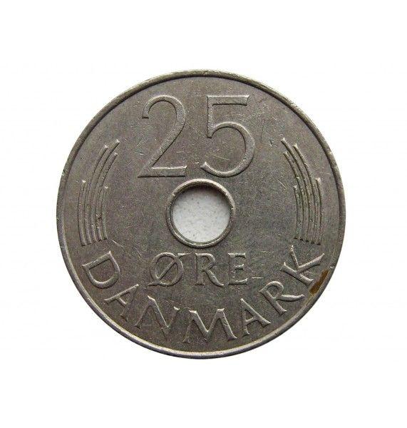 Дания 25 эре 1976 г.