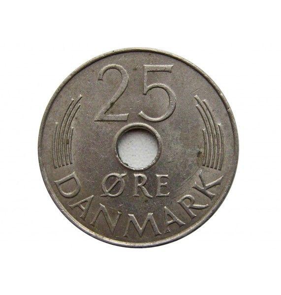 Дания 25 эре 1980 г.