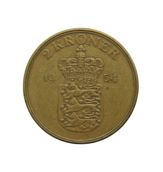 Дания 2 кроны 1954 г.