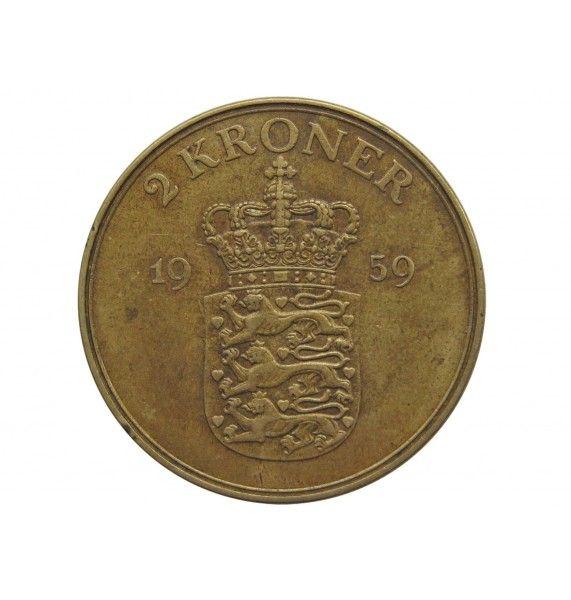 Дания 2 кроны 1959 г.