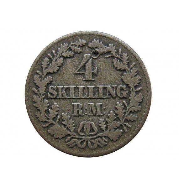 Дания 4 скиллинга 1856 г.