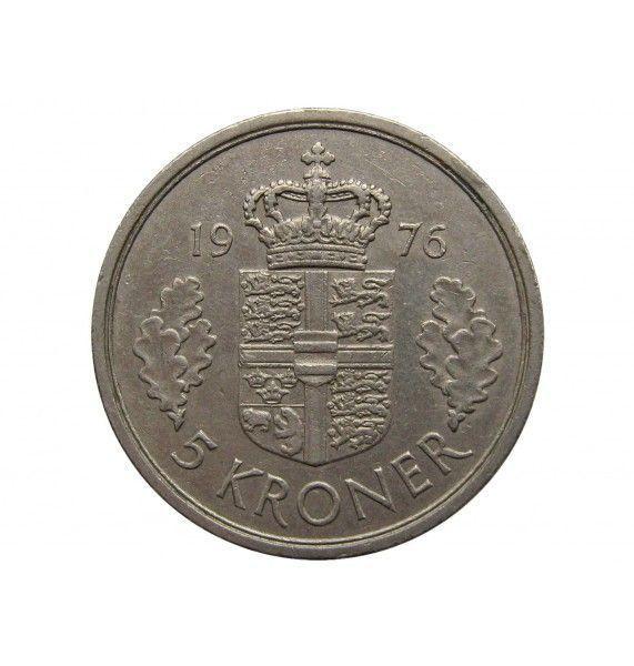 Дания 5 крон 1976 г.