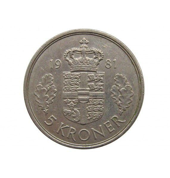 Дания 5 крон 1981 г.