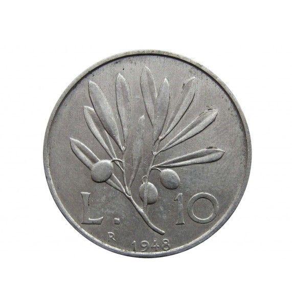 Италия 10 лир 1948 г.