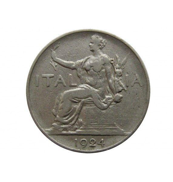 Италия 1 лира 1924 г.