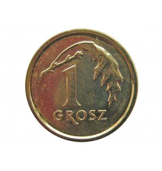 Польша 1 грош 2014 г.
