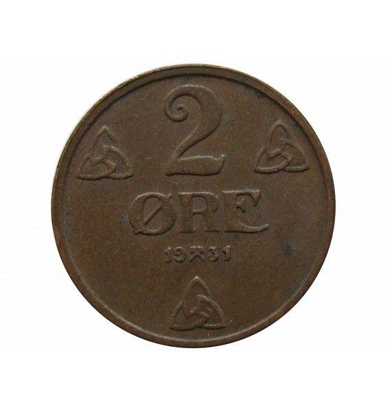 Норвегия 2 эре 1931 г.