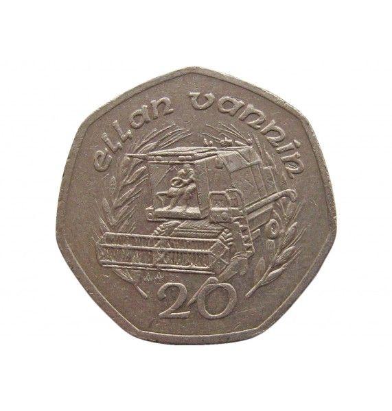 Остров Мэн 20 пенсов 1992 г. AA