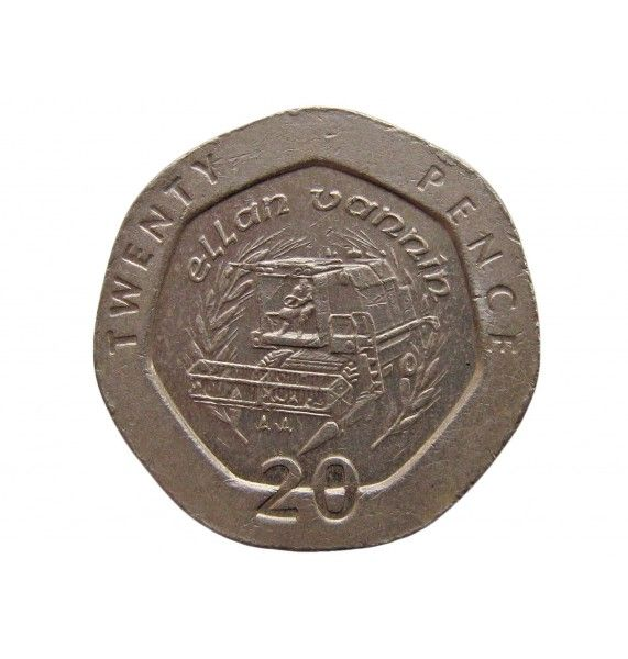 Остров Мэн 20 пенсов 1995 г. AA