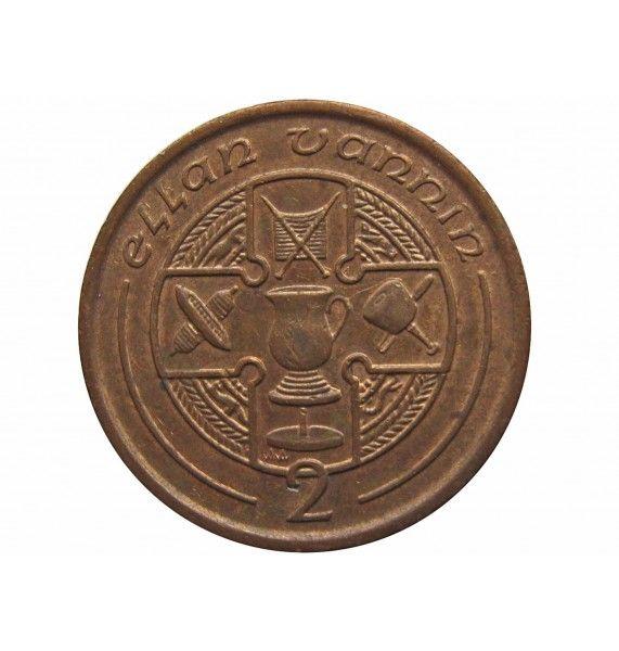 Остров Мэн 2 пенса 1991 г. AA
