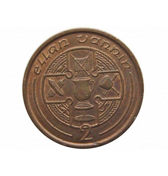Остров Мэн 2 пенса 1993 г. AA