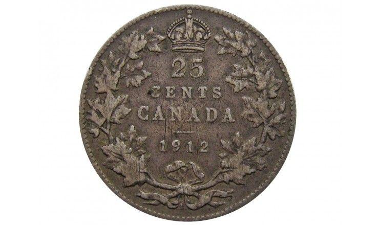 Канада 25 центов 1912 г.