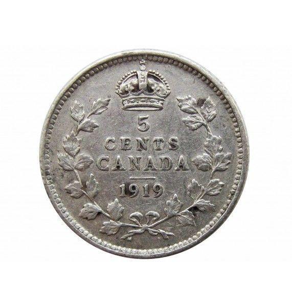 Канада 5 центов 1919 г.