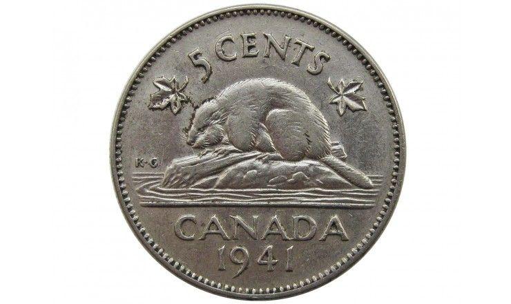 Канада 5 центов 1941 г.