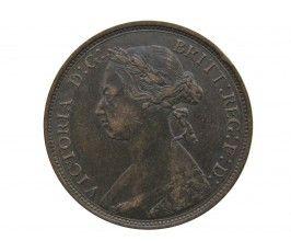 Великобритания 1/2 пенни 1876 г. H