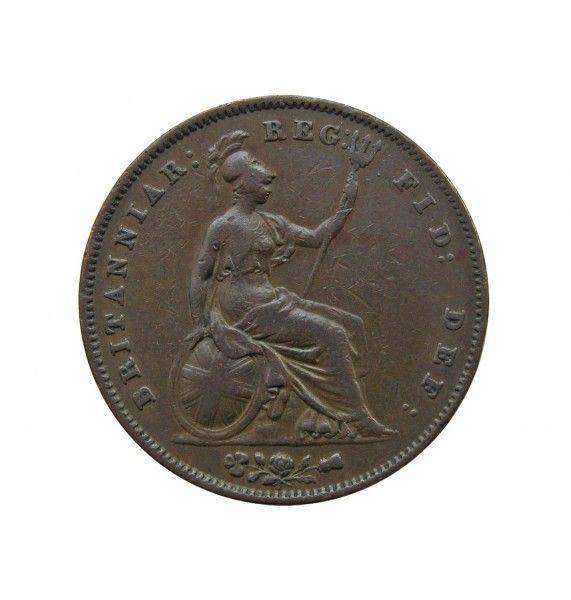 Великобритания 1 пенни 1858 г.