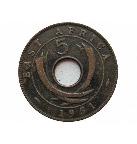 Британская Восточная Африка 5 центов 1951 г. H