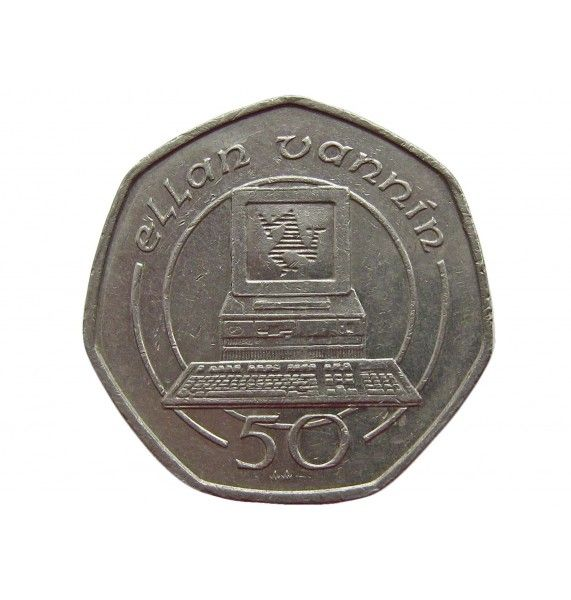 Остров Мэн 50 пенсов 1989 г. AA