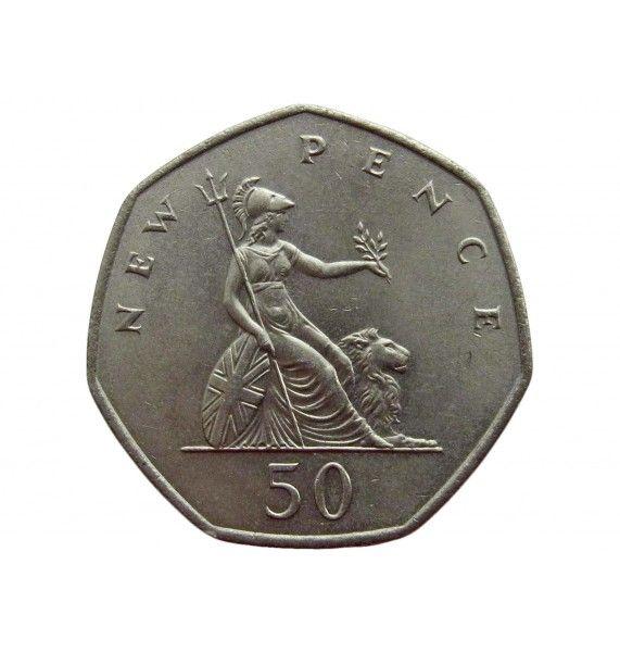 Великобритания 50 пенсов 1969 г.