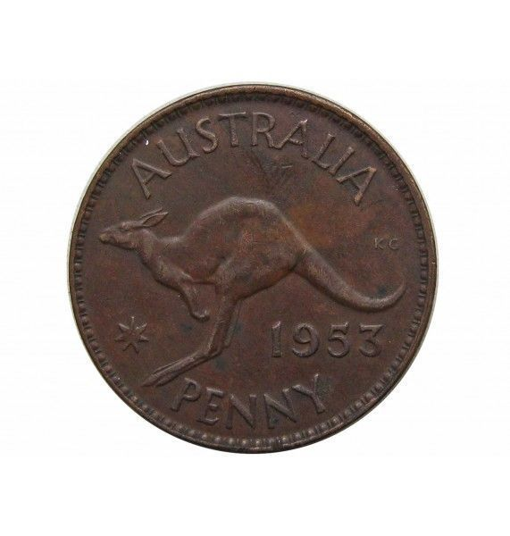 Австралия 1 пенни 1953 г. (m)