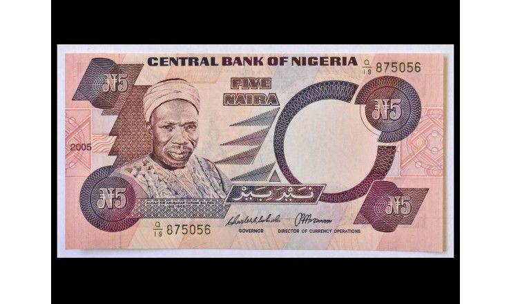 Нигерия 5 найра 2005 г.
