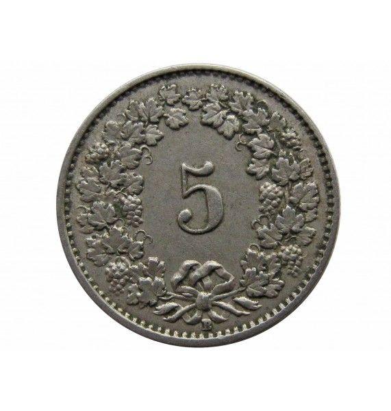 Швейцария 5 раппен 1942 г.