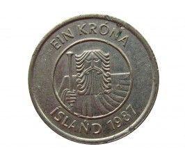 Исландия 1 крона 1987 г.