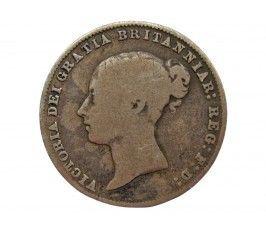 Великобритания 6 пенсов 1866 г. Die 24