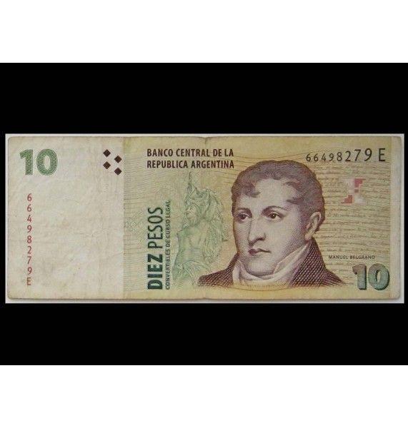 Аргентина 10 песо 1998 - 2003 гг.