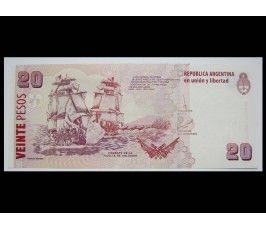 Аргентина 20 песо 2018 г.