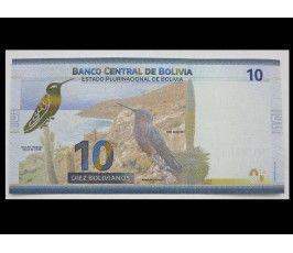 Боливия 10 боливиано 2018 г.