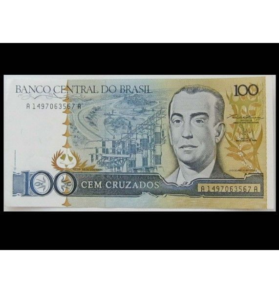 Бразилия 100 крузадо 1987 г.