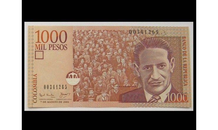 Колумбия 1000 песо 2001 г.