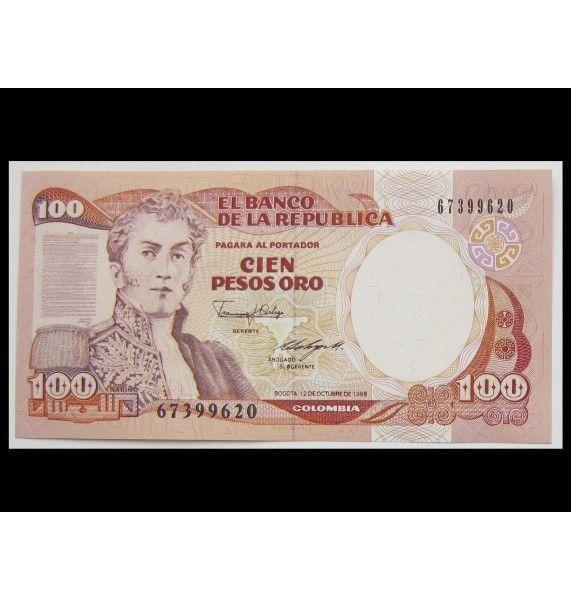Колумбия 100 песо 1988 г.