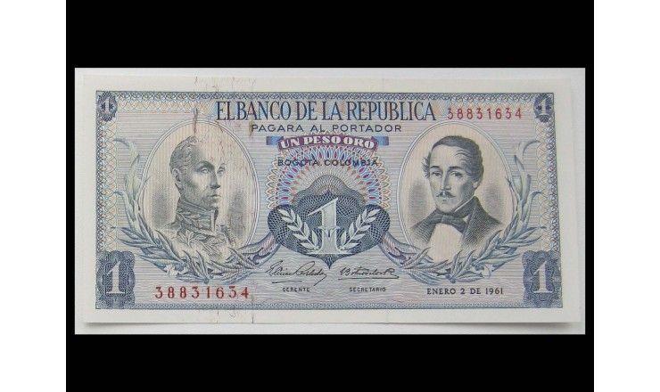 Колумбия 1 песо 1961 г.