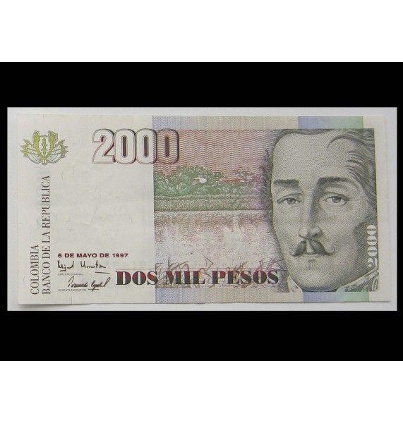 Колумбия 2000 песо 1997 г.