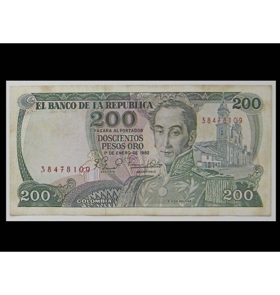 Колумбия 200 песо 1982 г.