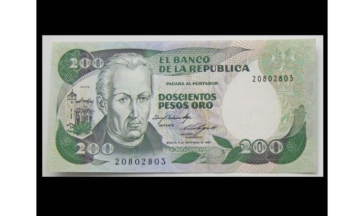 Колумбия 200 песо 1984 г.