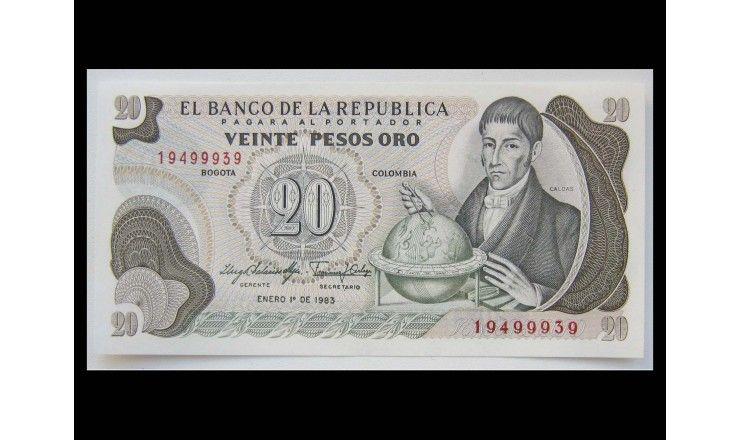 Колумбия 20 песо 1983 г.