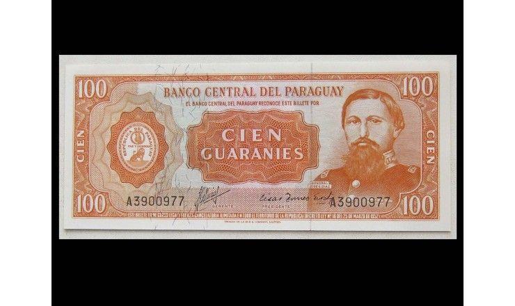 Парагвай 100 гуарани 1952 г.