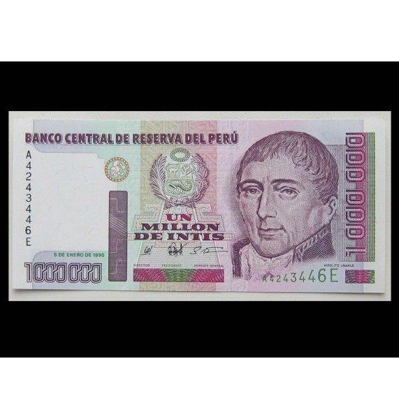Перу 1000000 инти 1990 г.