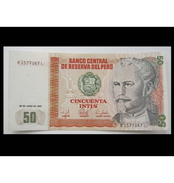 Перу 50 инти 1987 г.