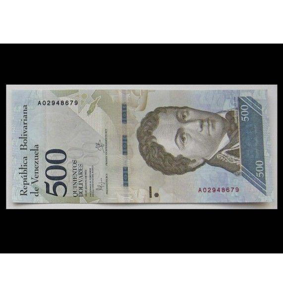 Венесуэла 500 боливаров 2016 г.
