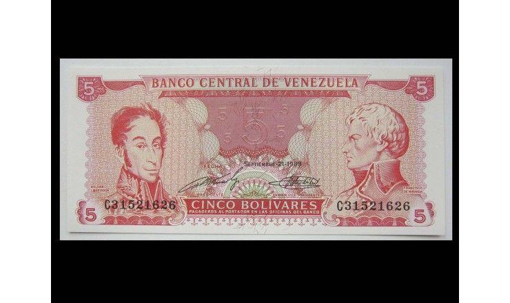 Венесуэла 5 боливаров 1989 г.