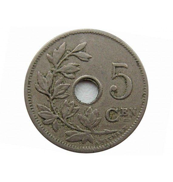 Бельгия 5 сантимов 1910 г. (Belgie)