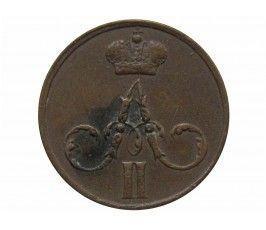 Россия денежка 1855 г. ЕМ