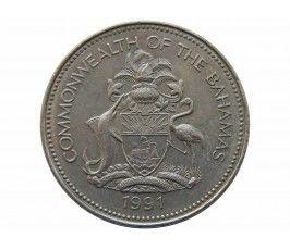 Багамы 25 центов 1991 г.