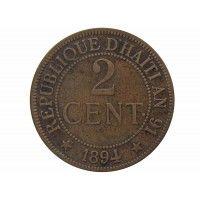 Гаити 2 сантима 1894 г.