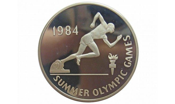 Ямайка 10 долларов 1984 г. (Летняя Олимпиада 1984 г. в Лос-Анджелесе)