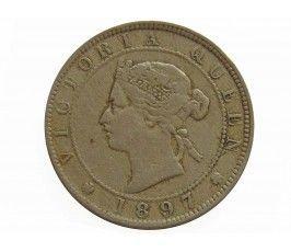 Ямайка 1 пенни 1897 г.